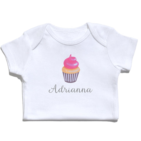 Bodysuit - Cupcake with Name