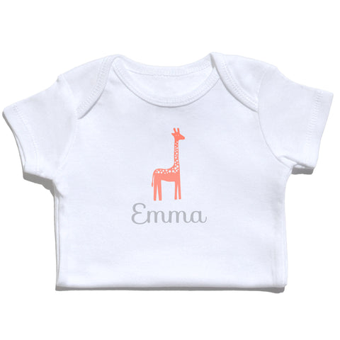 Bodysuit - Giraffe with Name