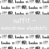 Outfit - Monochrome Elephants