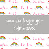 Boco Kids - Name Leggings - Rainbows