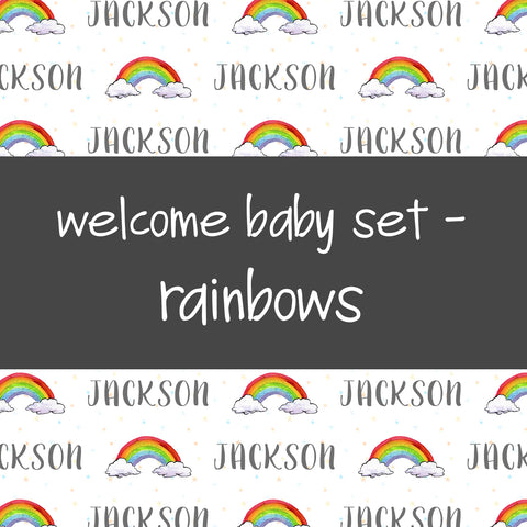 Welcome Baby Set - Rainbows