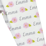 Name Leggings - Roses