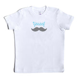 Boco Kids - Shirt - Mustache with Name