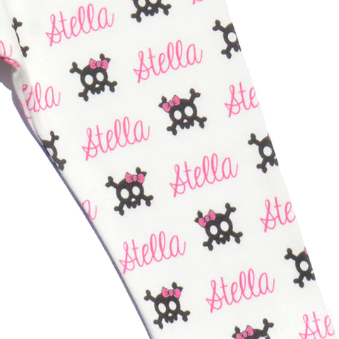 Name Leggings - Skull and Bows