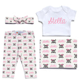 Welcome Baby Set - Skull and Bows