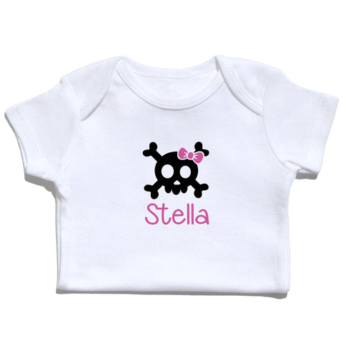 Bodysuit - Skull and Bow with Name