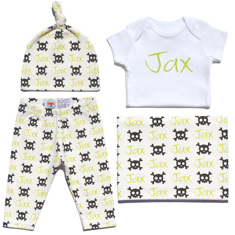 Welcome Baby Set - Skull and Bones