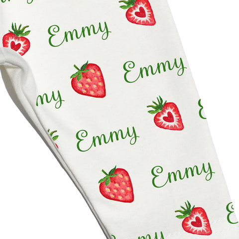Name Leggings - Strawberry Baby