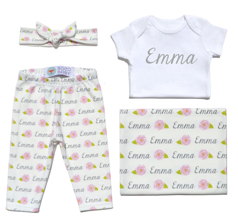 Welcome Baby Set - Roses