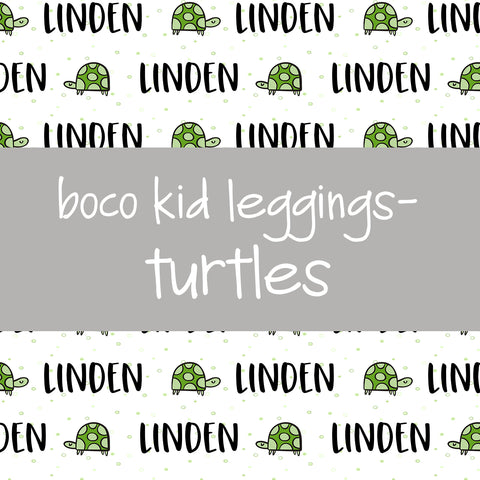 Boco Kids - Name Leggings - Turtles