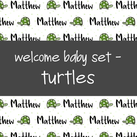 Welcome Baby Set - Turtles
