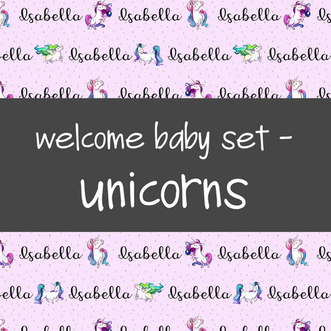 Welcome Baby Set - Unicorns