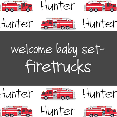 Welcome Baby Set - Firetrucks