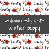 Welcome Baby Set - Winter Poppy