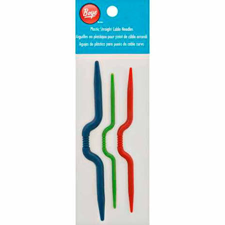 Plastic Straight Cable Needles 3pk