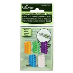 Clover Coil Knitting Needle Holders 5-pk small