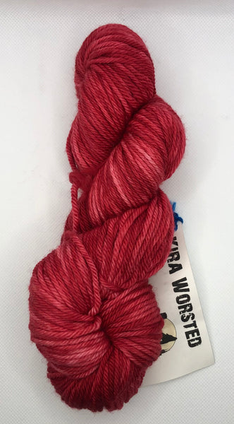 Urban Wolves Kira Hand-Dyed Worsted, Strawberry Fields