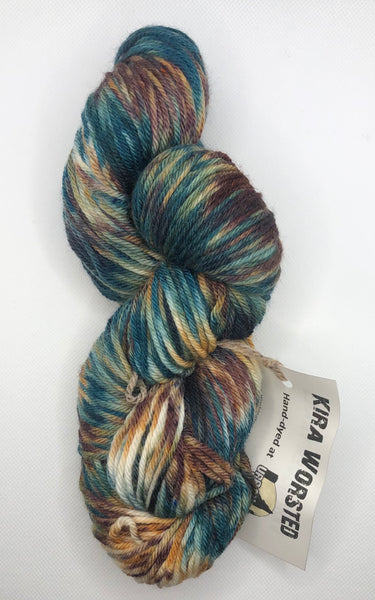Urban Wolves Kira Hand-Dyed Worsted, Vancouver Trails