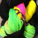 Urban Wolves Kyle Hand-Dyed Sock, Rave - Neon
