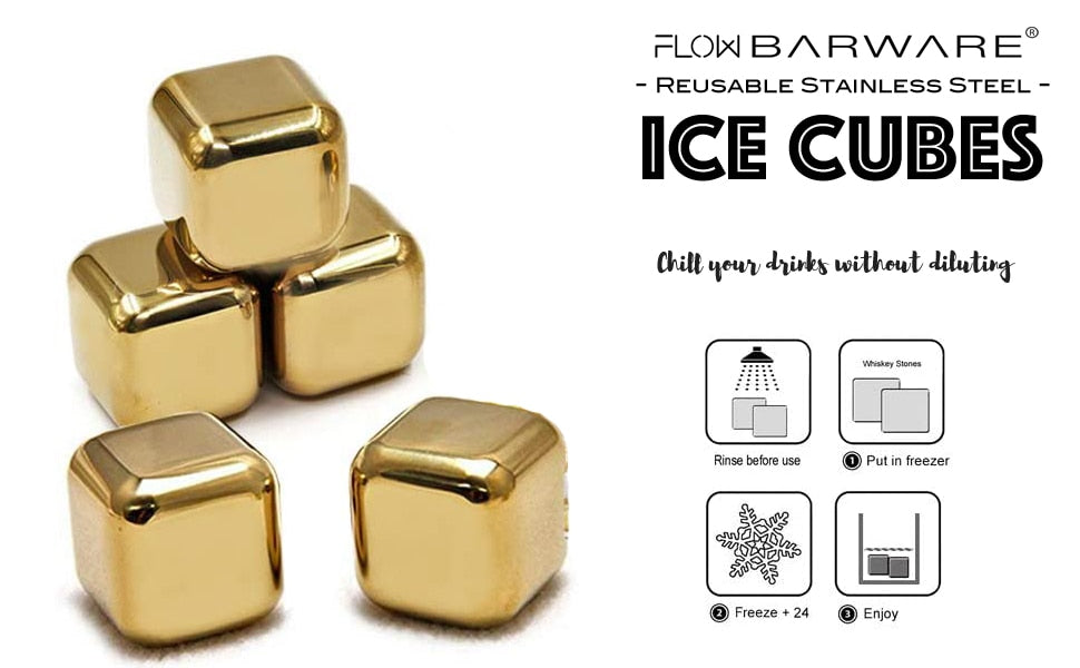 gold whisky stones