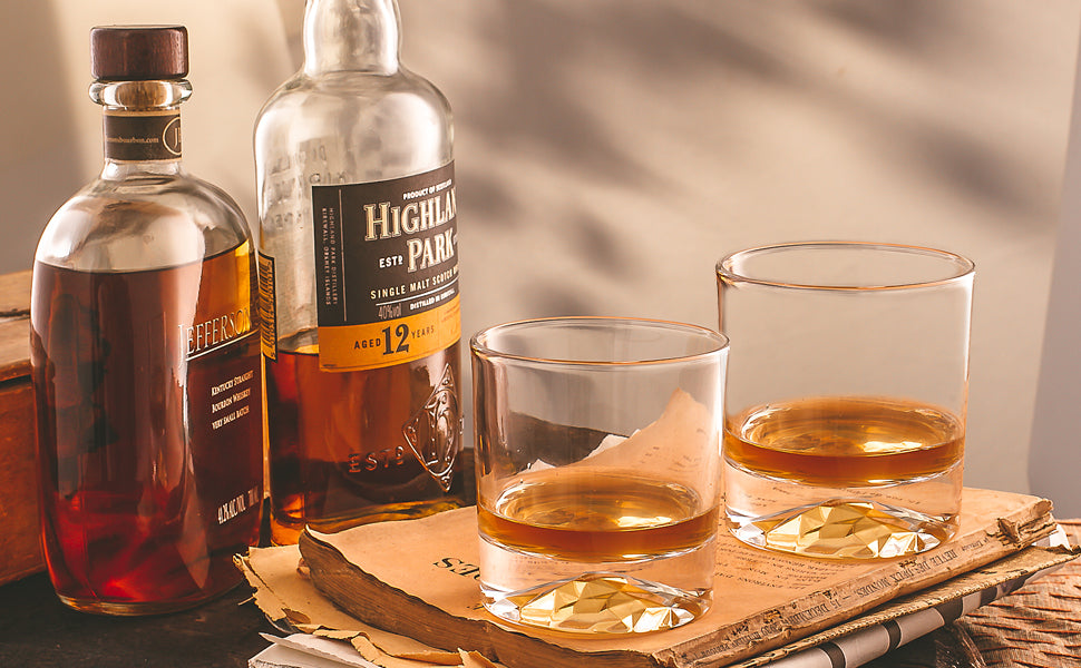 Mountain Base Whiskey Glasses By Flow Barware