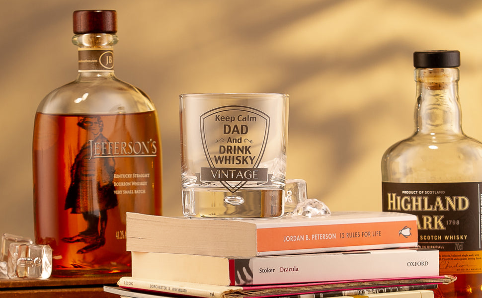 Personalised whisky glass for dad