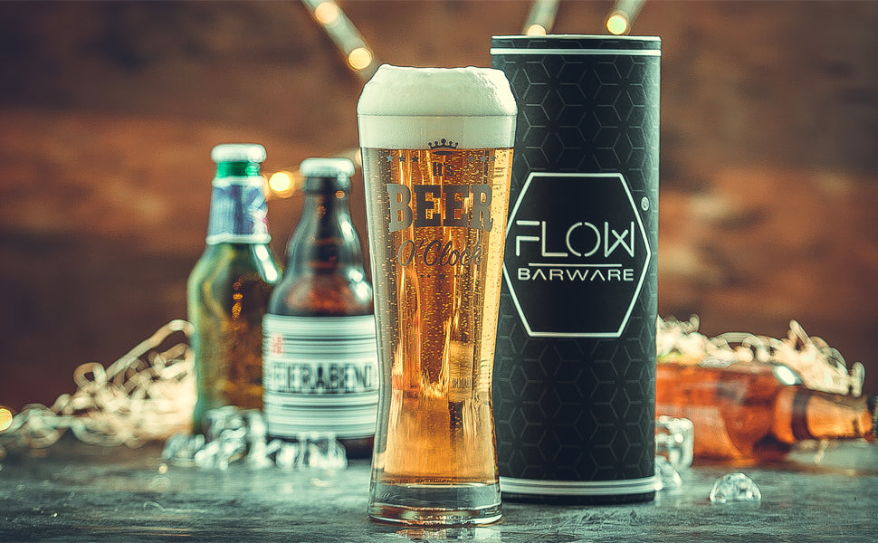 It's Beer O'Clock Pint Glass by Flow Barware