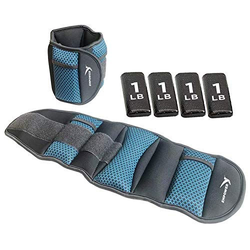 Ankle And Wrist Weight Set with Adjustable Strap Water Proof 3 Pound 2 Pack New