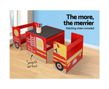 Load image into Gallery viewer, KEEZI KIDS FIRETRUCK TABLE & CHAIR SET