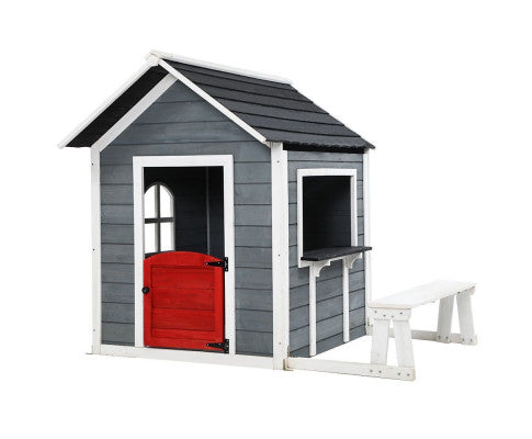 KEEZI KIDS CUBBY HOUSE WITH BENCH