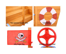 Load image into Gallery viewer, KEEZI KIDS BOAT SAND PIT WITH CANOPY
