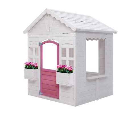 KEEZI KIDS FIR WOOD CUBBY HOUSE