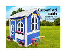 Load image into Gallery viewer, KEEZI KIDS FIR WOOD CUBBY HOUSE