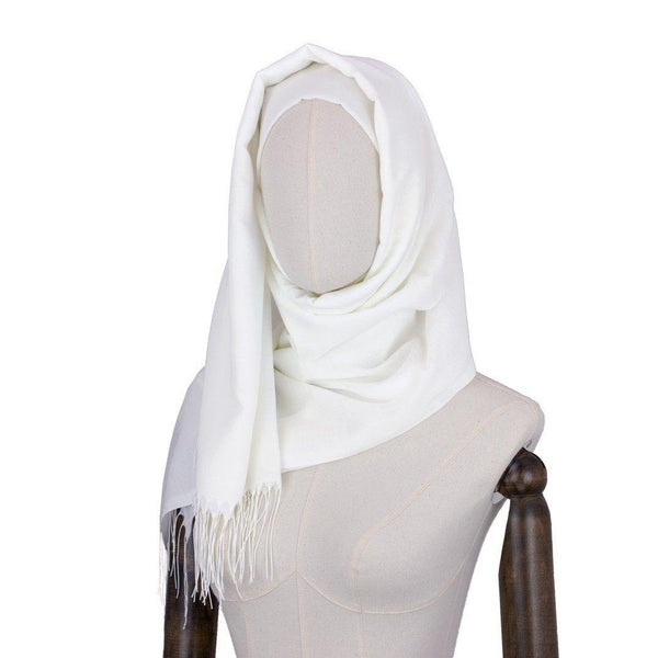 Hijab Style Fringe in Mirror White