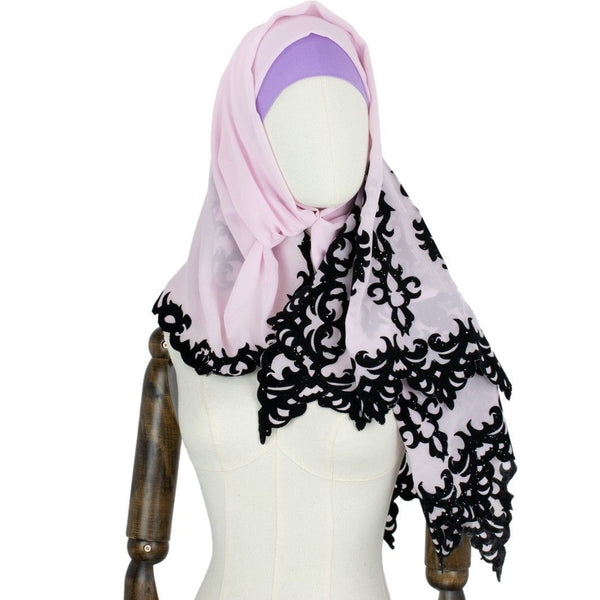 Hijab Style Dynamic in Rosa