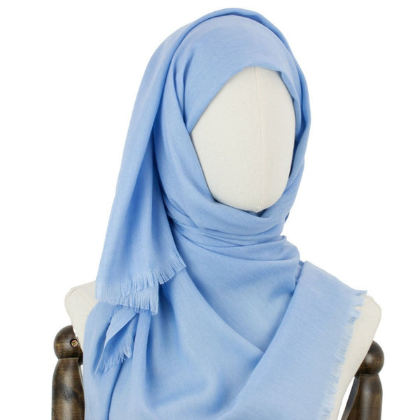 Hijab Style Fringe in Tropical Blue