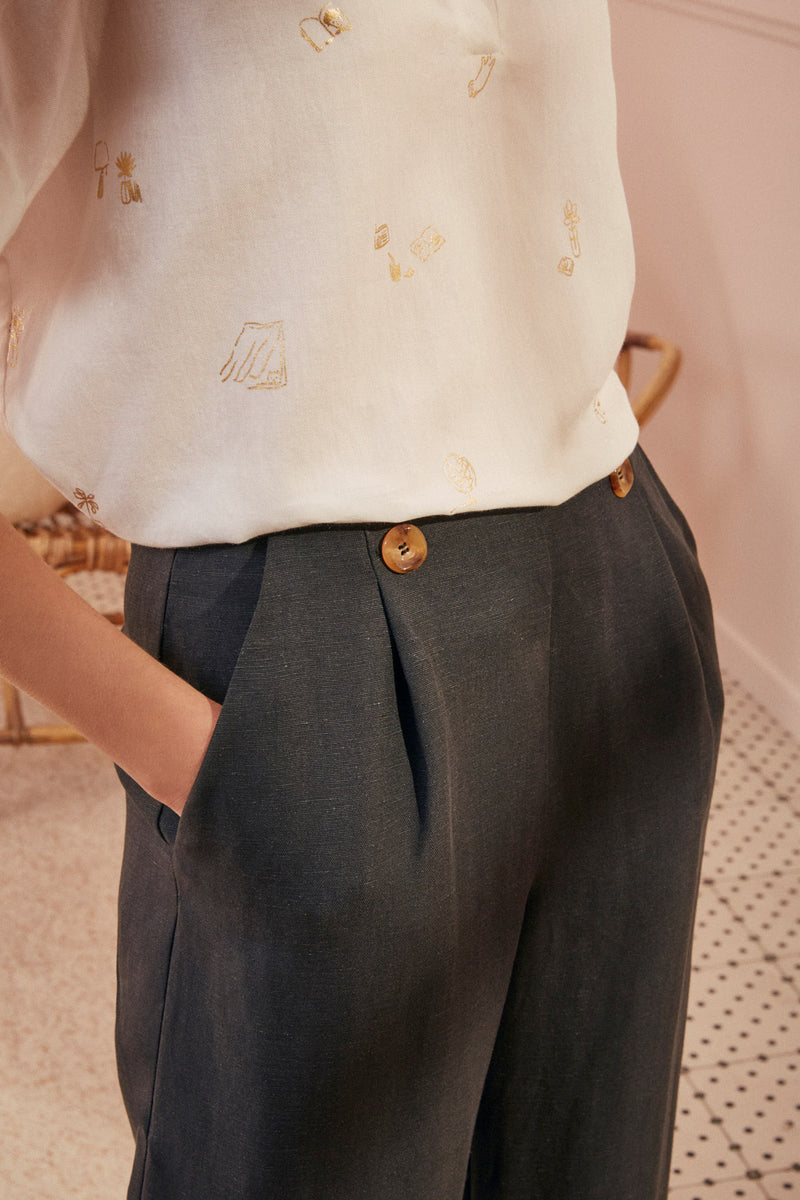 trousers stamou grigio