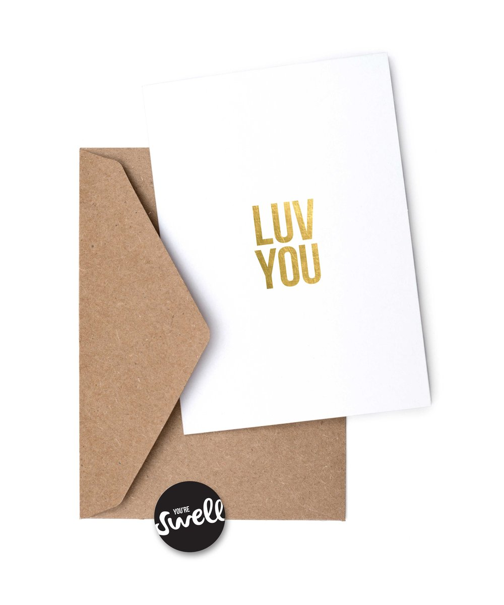 LUV YOU SIX LETTER SENTIMENTS CARD