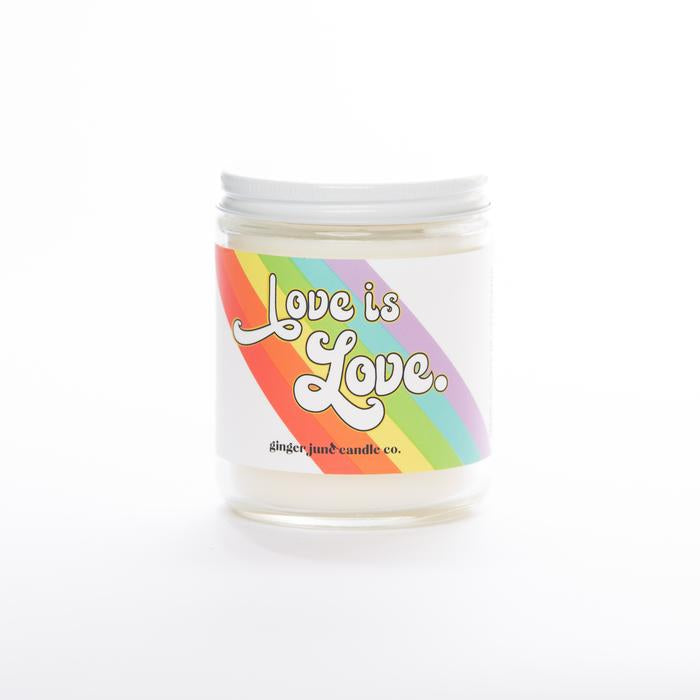 LOVE IS LOVE • NON-TOXIC SOY CANDLE