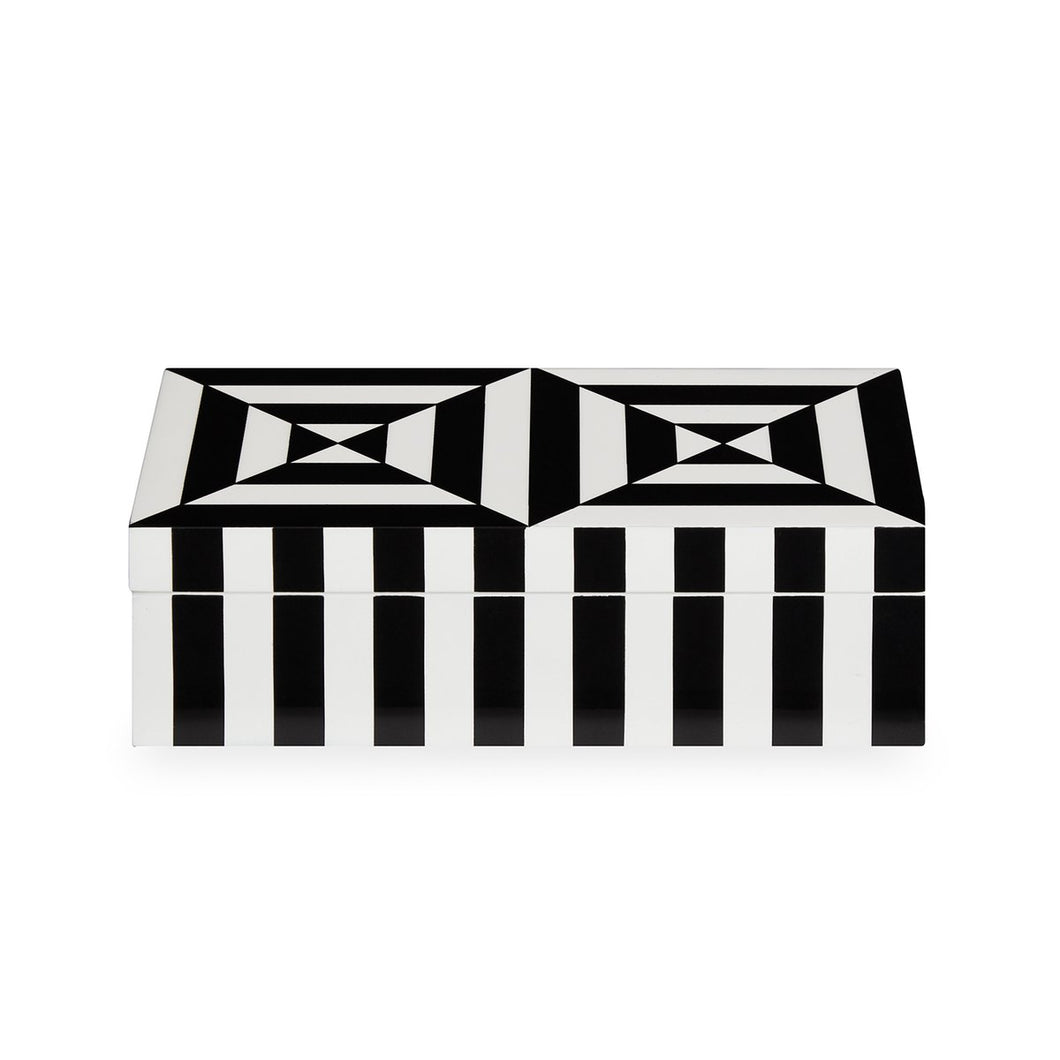 JONATHAN ADLER SMALL OP ART LACQUER BOX