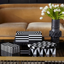 Load image into Gallery viewer, JONATHAN ADLER LARGE OP ART LACQUER BOX