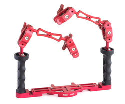 Scubalamp Double Handle Arm System - Red