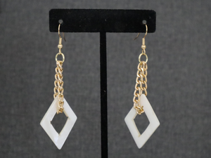 Mother of Pearl Diamond Shaped Earrings