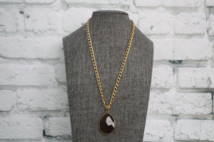 Brown Pendant Necklace