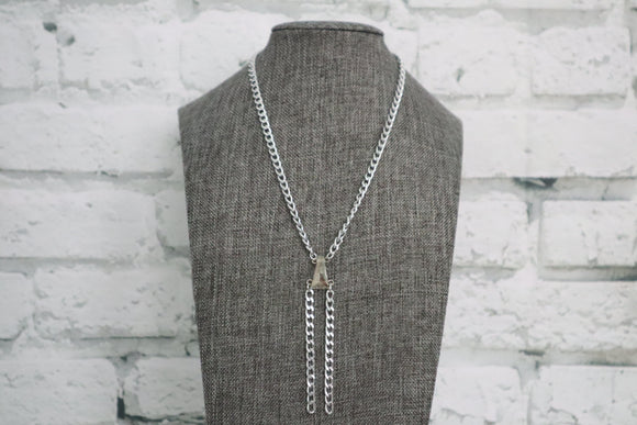 Silver Swarovski Crystal Necklace