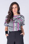 FLOWING FIT PRINTED BLOUSE