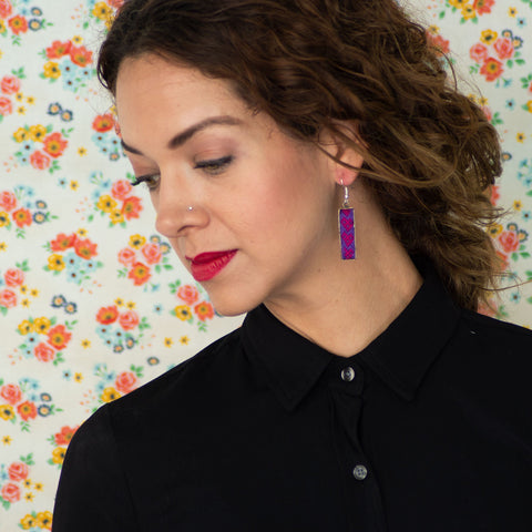 Mexican Embroidery Long Earrings