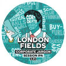 London Fields, Corporate Jargon, 3.5% Session IPA, 1LT Draught - Hoxton Cabin