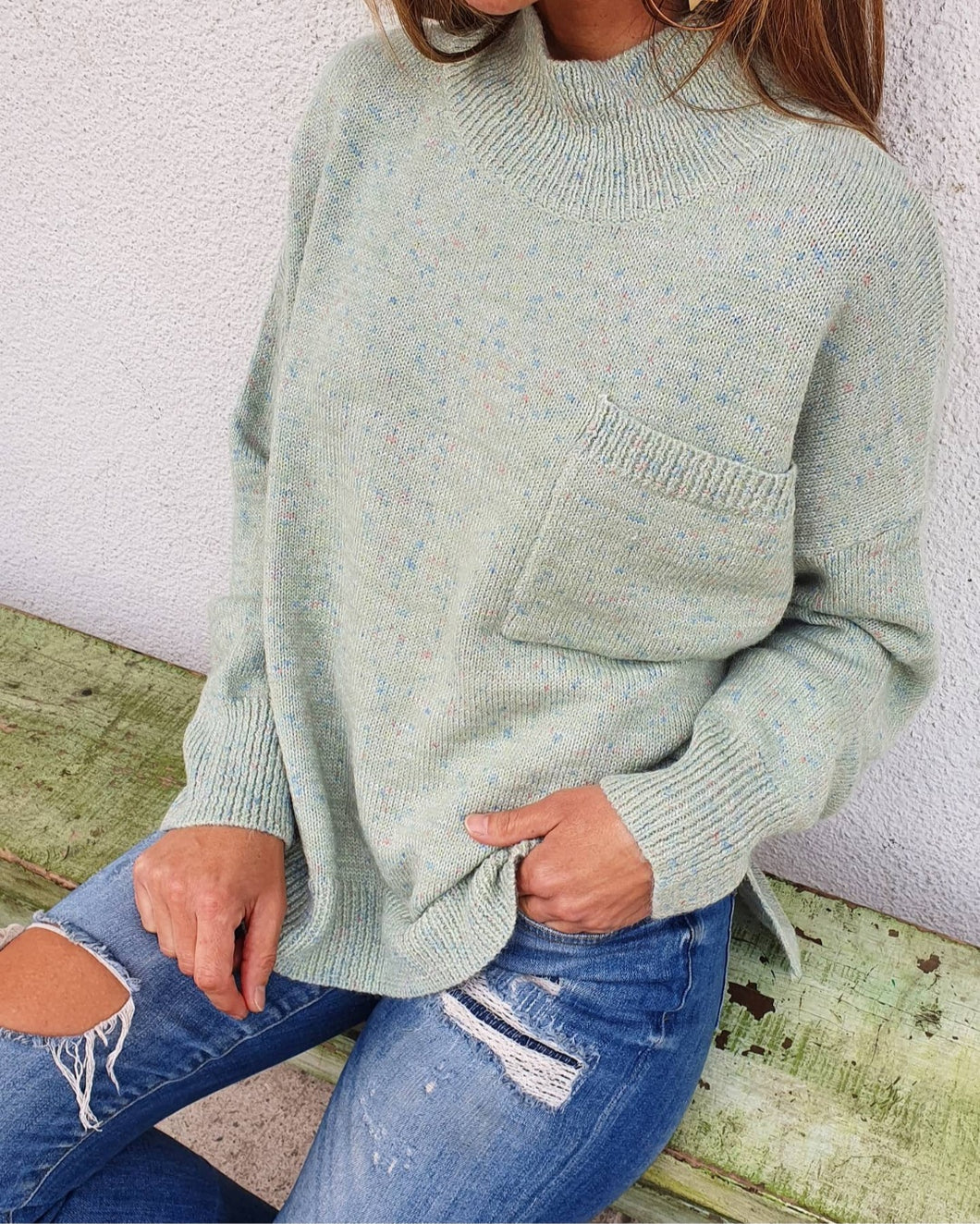 Sweater Melly Menta Suave