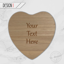 Load image into Gallery viewer, Personalised Heart Chopping Board